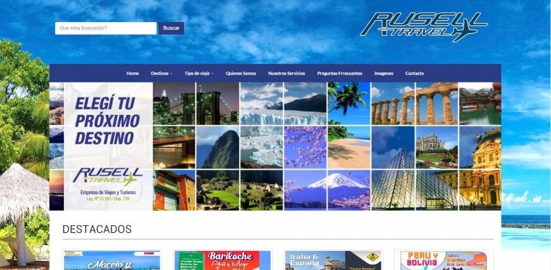 DISENO WEB RUSELL TRAVEL, Queres formar parte de nuestro equipo?, Rio Cuarto