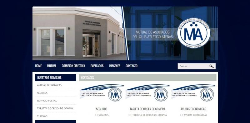 DISENO WEB MUTUAL DE ASOCIADOS DEL CLUB ATLéTICO ATENAS, Queres formar parte de nuestro equipo?, Rio Cuarto