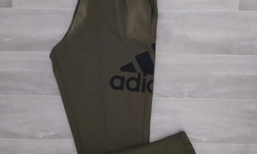 pantalon largo adidas algodón verde militar