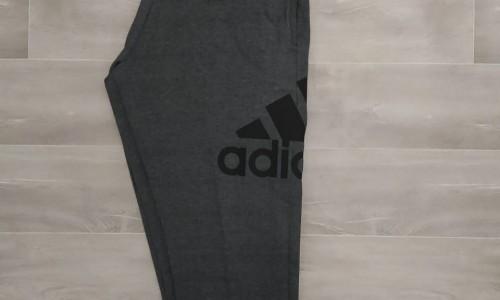 pantalon largo adidas algodón gris oscuro