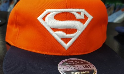 Gorra Plana Superman Naranja